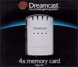 Dreamcast 4X Memory Card by Sega