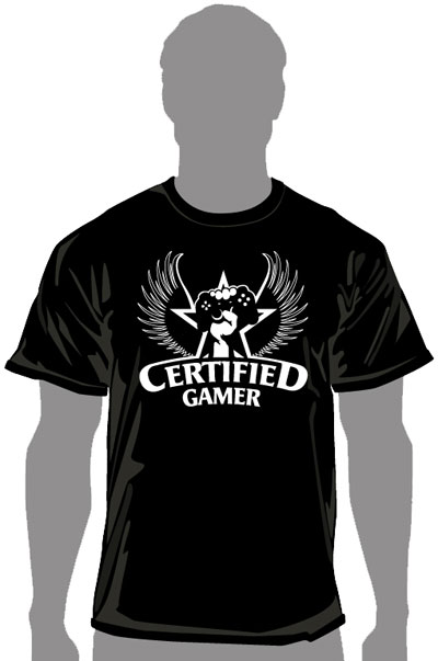 Certified Gamer Champion T-Shirt (MED)