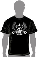 Certified Gamer Champion T-Shirt (MED)
