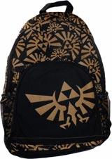 Legend of Zelda Triforce Gold Emblem Collage Backpack