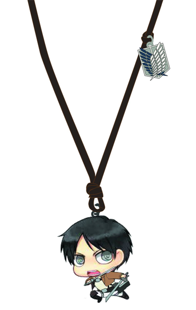 Eren wooden chibi necklace
