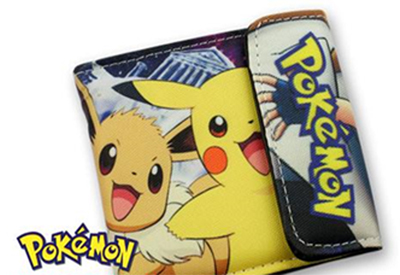 Pikachu and Eevee Black Wallet