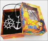 One Piece: Ship Wheel and Anchor Necklaces