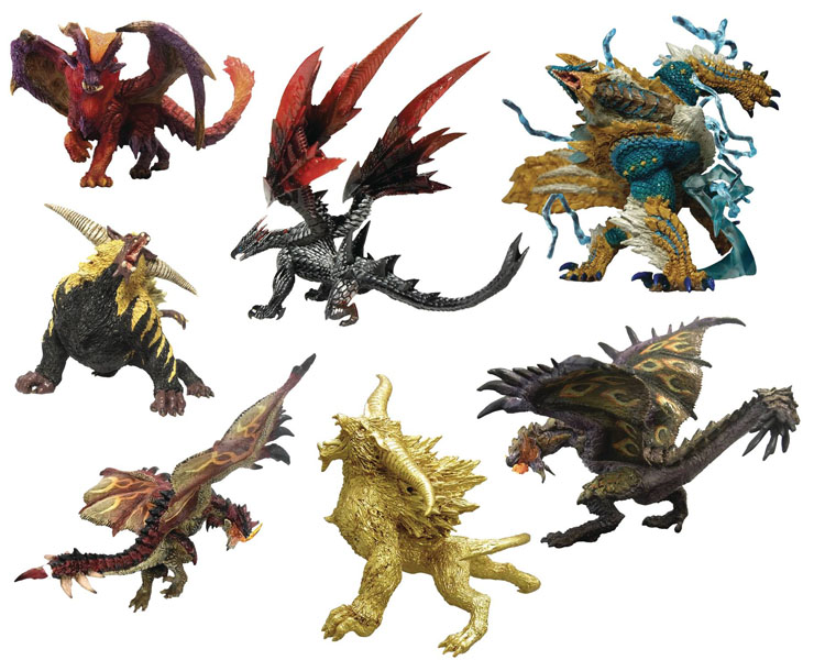 All the exciting options in the Monster Hunter Trading Figures Version 2 Blind Mystery Box!