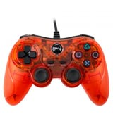 PlayStation 2 / PlayStation Wired Analog Controller Clear Red