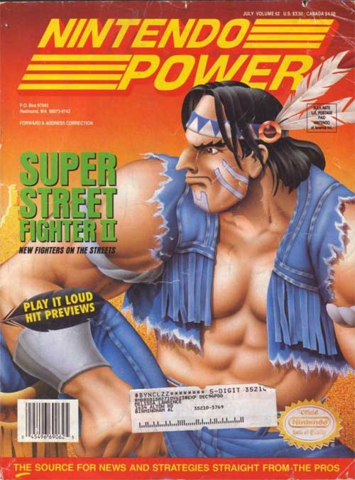 Nintendo Power Magazine Volume 62 Super Street Fighter II