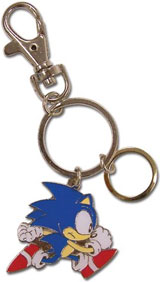 Sonic the Hedgehog Running Metal Keychain