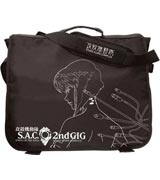 Ghost in the Shell Black Cable Line Art Messenger Bag