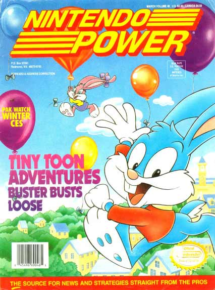 Nintendo Power Volume 46 Tiny Toon Adventures