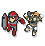 Mega Man X: Proto Man and Bass PVC Pin Set