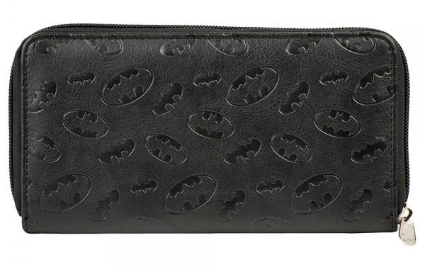 Batman Logo Large Zip Around Wallet