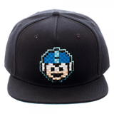 Mega Man 8 Bit Black Snapback