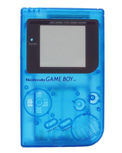 Game Boy Housing Shell Replacement Service Clear Blue