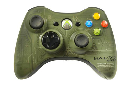 Xbox 360 Wireless Halo: ODST Green Controller