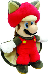 Nintendo Flying Squirrel Mario 14 Inch Plush
