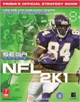 NFL 2K1 Official Strategy Guide Book