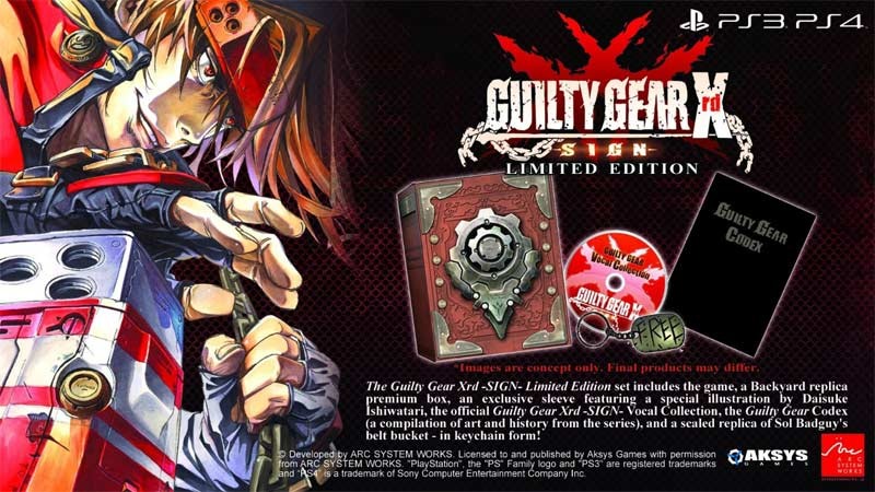 Guilty Gear Xrd - SIGN Limited Edition contents