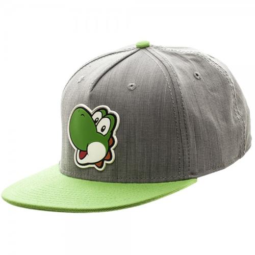 Nintnedo Yoshi Rubber Sonic Weld Gray/Green Snapback