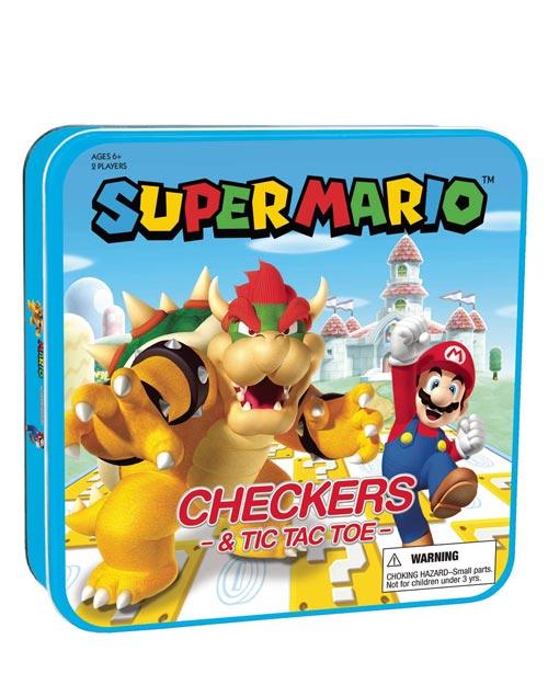 Super Mario Checkers & Tic-Tac-Toe