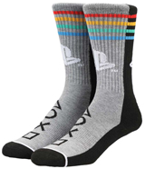 Playstation Split Colorblock Crew Socks