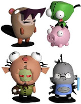 Invader Zim Mini Figurines of Doom (Set of 4)