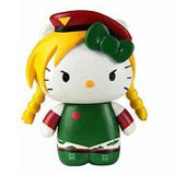 Sanrio x Street Fighter Keychain Cammy