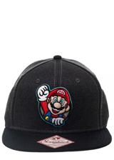 Nintendo Super Mario Gray Snapback