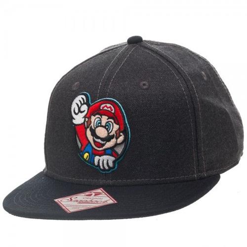 Nintendo Mario Gray Snapback
