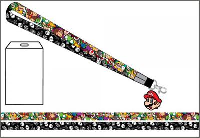 Nintendo Super Mario Multi Character Lanyard