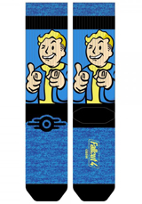 Fallout Vault Boy Sublimated Panel Crew Socks