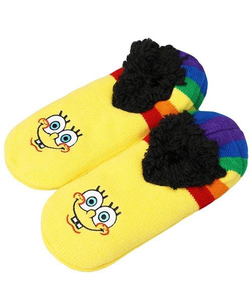 SpongeBob SquarePants Rainbow Slipper Socks