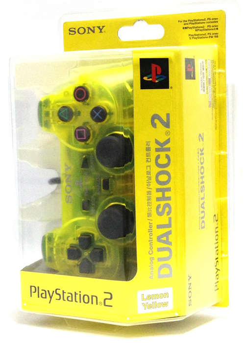 PS2 DualShock 2 Controller Lemon Yellow By Sony