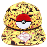 Pokemon Pikachu All Over Print Snapback