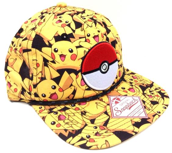 Pokemon Pikachu All Over Print Snapback