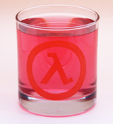 Arts & Crafts: Half-Life Logo Custom-made 10oz Glass