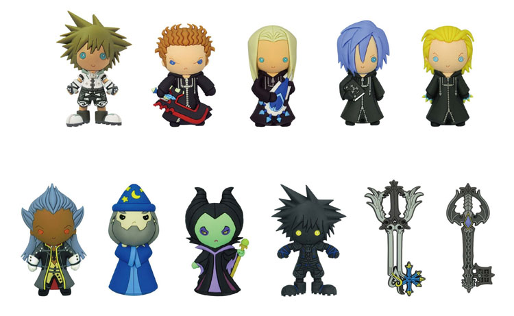 Kingdom Hearts Laser Cut Figure Keyrings