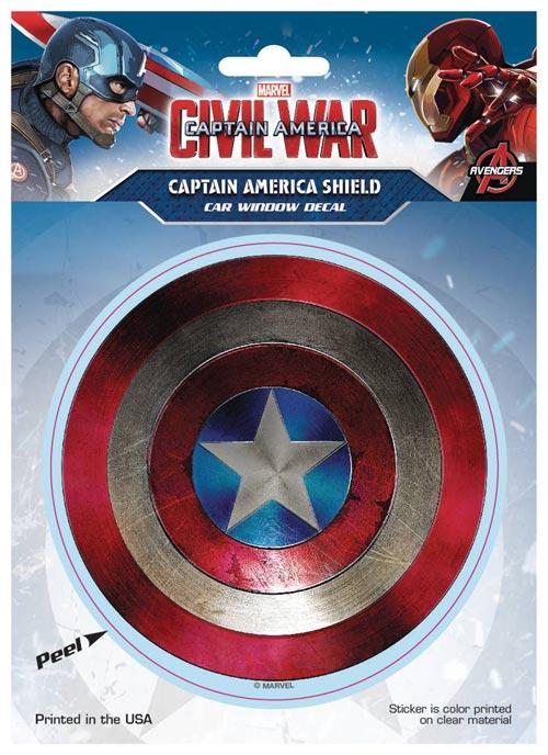 Marvel Captain America Civil War Shield Decal