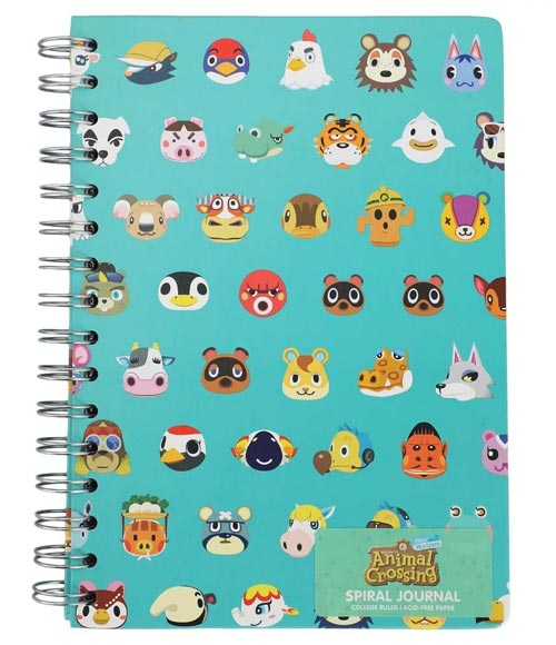 Animal Crossing Characters Spiral Journal