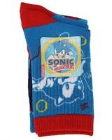 Sonic the Hedgehog Youth Crew Socks 3 Pack