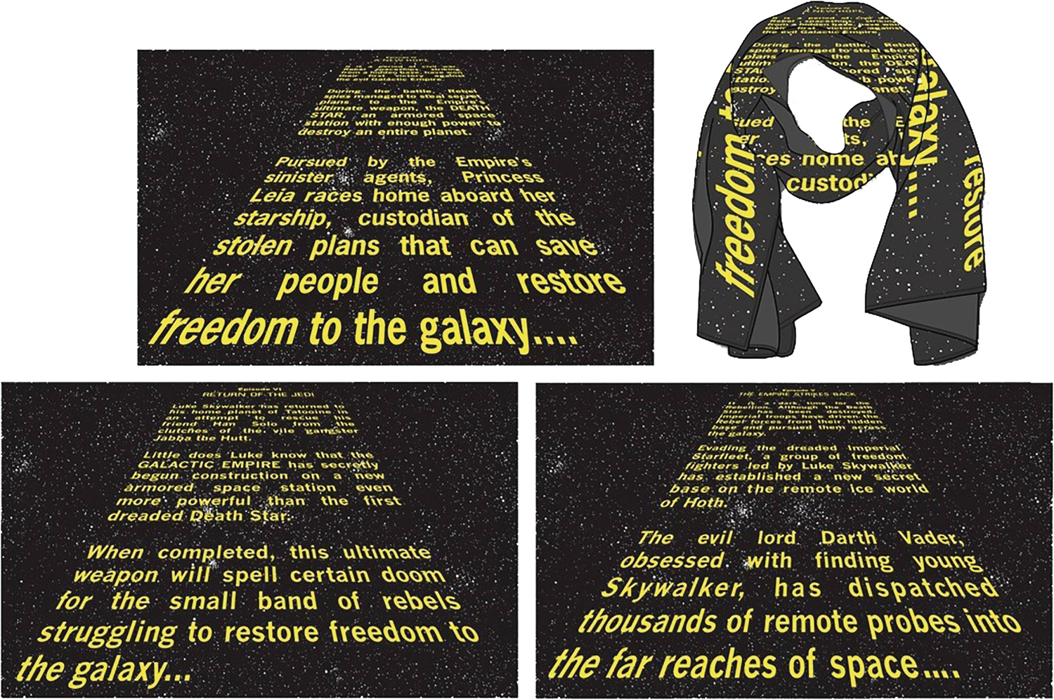 Star Wars E5 Opening Credit Crawl Scarf