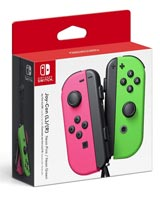Nintendo Switch Left and Right Neon Pink and Green Joy-Con Controllers