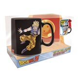 Dragon Ball Z Goku and Buu Heat Activated Mug and Coaster Gift Set