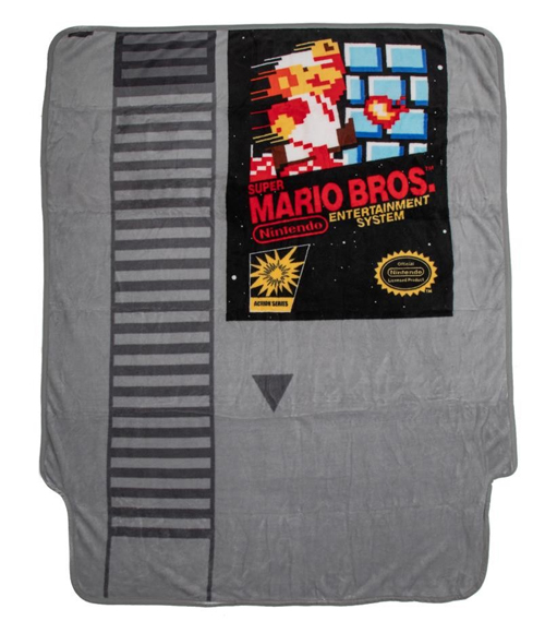 Super Mario Bros Cartridge Fleece Throw