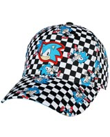 Sonic the Hedgehog Checkered All Over Print Youth Pre-Curved Snapback Hat