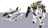 Robotech Super Deformed Skull Leader Chrome Morpher