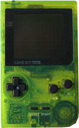 Nintendo Game Boy Pocket System Clear Green