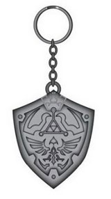 Zelda Metal Hylian Shield Key Chain