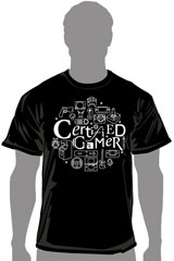 Certified Gamer Out of Control T-Shirt (LG)