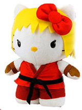 Sanrio X Street Fighter Ken 10 Inch Plush