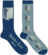 Attack on Titan: Scout Corps Crew Socks 2 Pack